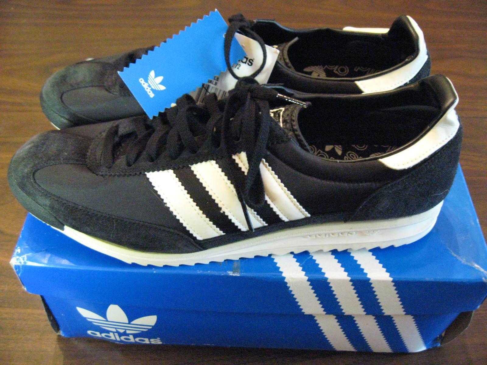 Adidas Negro Originals SL 72 Retro Negro Adidas pista de entrenamiento Zapatos  para Hombre Nuevo Con Caja 88f4db