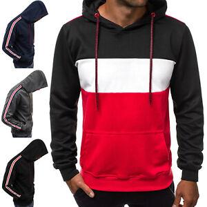 Kapuzenpullover-Sweatshirt-Pullover-Hoodie-Sweatjacke-Herren-OZONEE-10258-MIX