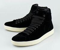 Tom Ford Black Velvet Fashion Sneakers Shoes Size 9.5 T Us 42.5 Eu $990 on sale