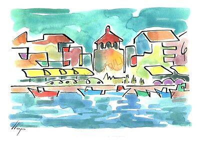 Llop Tarragona muralla litografia 30x21 edición limitada