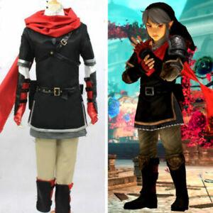 Legend Of Zelda Hyrule Warriors Dark Link Outfit Cosplay Costume Uniform Custom Ebay