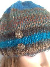 Beanie Beret Sliuch Hat Hand Knit Multicolor Designer Fashion Winter Hip Chic