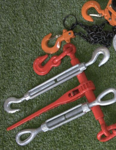 """2x Turnbuckles 3//4""""x12 Drop Forged//Hot Dipped Galvanized Turnbuckle Hook//Hook"""