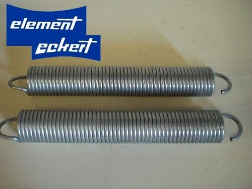 1 Paar Zugfeder 6,3x50x535mm Garagentorfedern Garage 150 Kp Zugleistung verzinkt