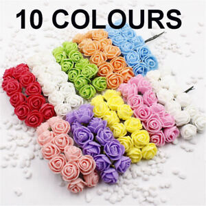 144Pcs Foam Mini Roses Artificial Flower Wedding Home Party Decoration DIY