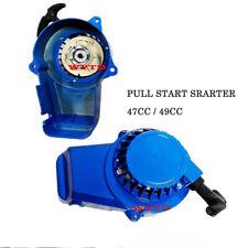 Black Mental Pull Starter Pullstart 49CC Mini Pocket Dirt Bike ATV Quad Minimoto