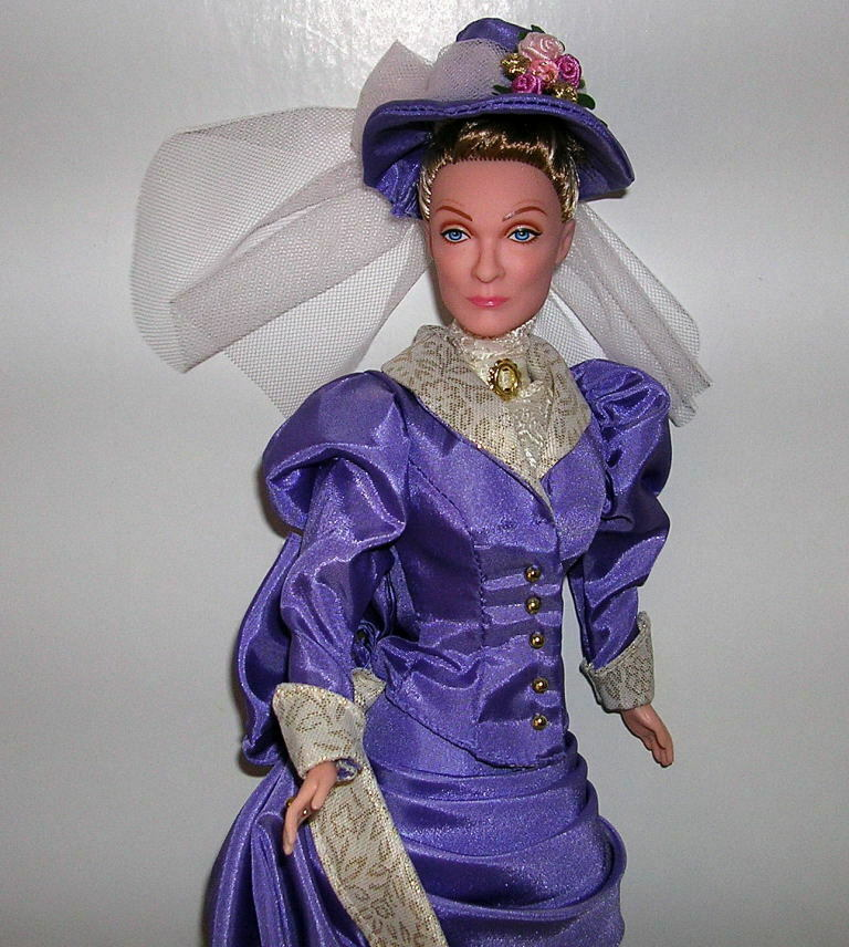 DOWNTON ABBEY Barbie lila CRAWLEY OOAK Dowager Countess of Grantham