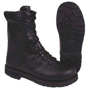 para combate Botas de Zapato Bundeswehr hombres botas cuero de 48 negro de Nuevas talla trabajo zxn4wqY5f
