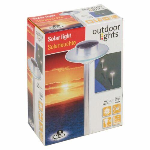 4x Tall Energie Solaire Jardin DEL Lampe D/'extérieur longue tige Garden Path Light Lampes