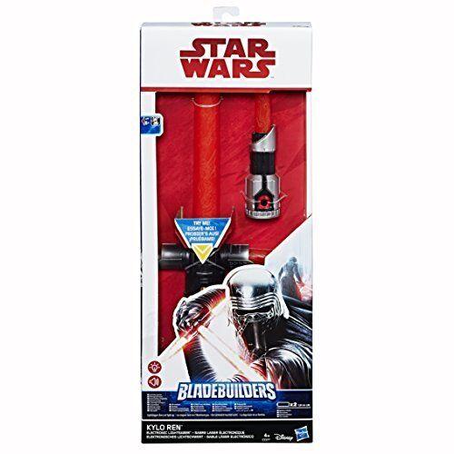 Star Wars Kylo Ren Electronic Lightsaber Blade Builders Spada Laser Elettroniaca