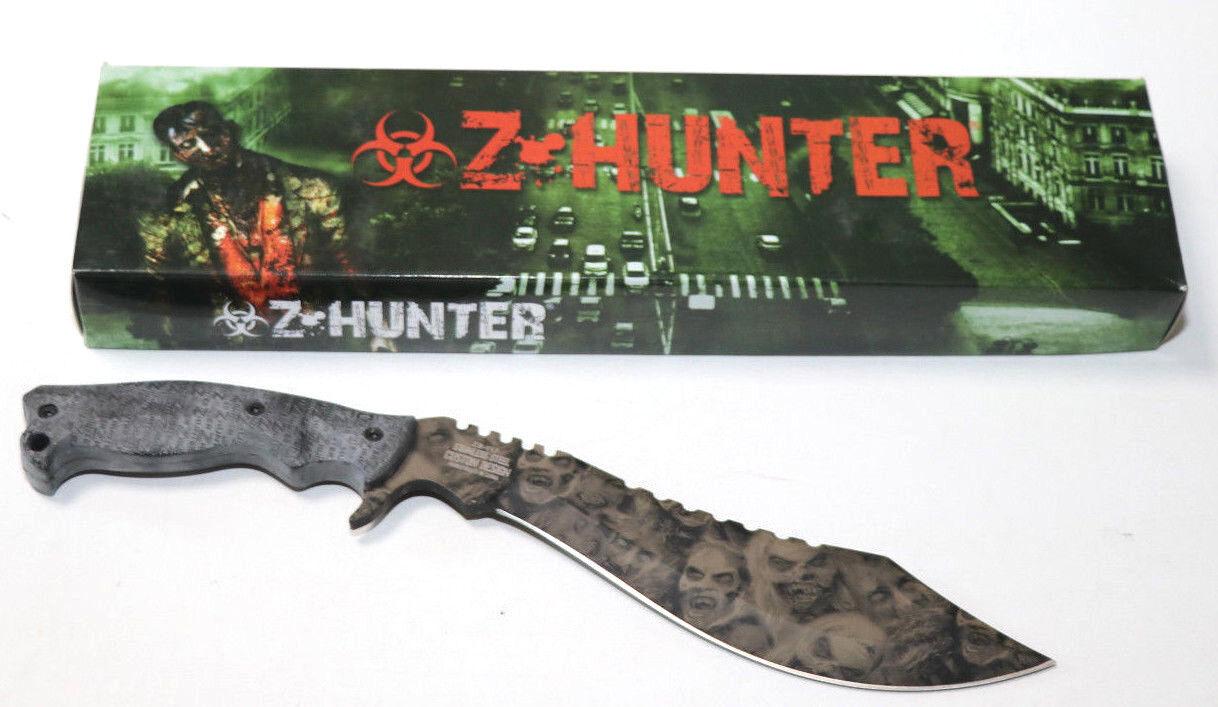 Z Hunter Outdoormesser schwarz rubber wrapped Machete Jagdmesser  | Elegante Und Stabile Verpackung