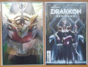 Boom-Studios-Power-Rangers-Drakkon-New-Dawn-w-Foil-Set-1-amp-2-Comic-Pink-Slayer-NM