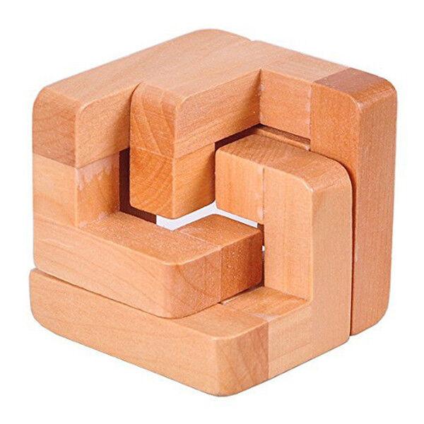 3d Wooden Interlocked Surround Lock Logic Puzzle Burr Puzzles Brain Teaser  C4a7