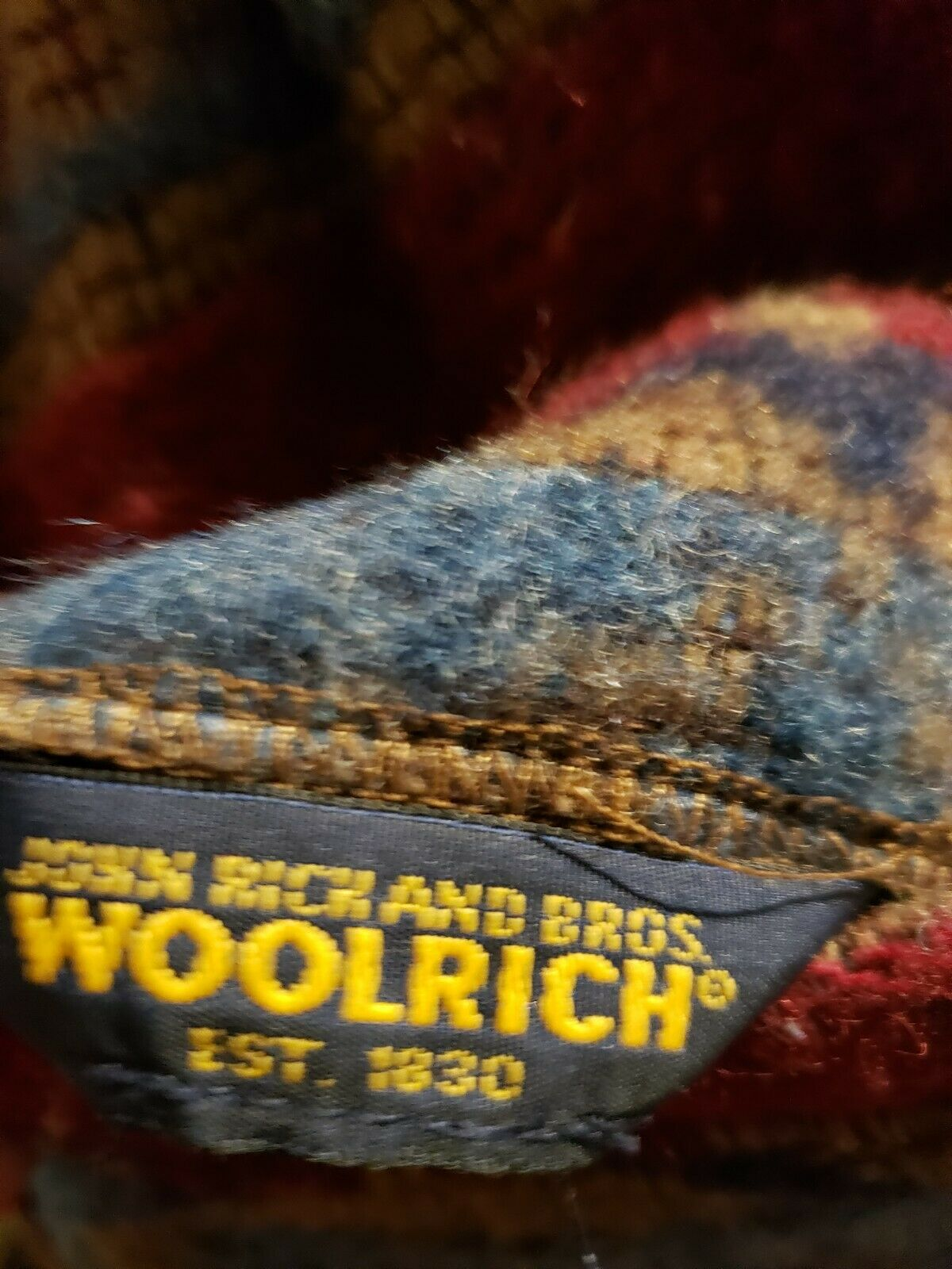 Vintage Woolrich John Rich Bros Southwestern wool… - image 4