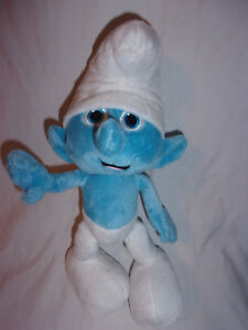 The-Smurfs-Blue-10-034-Plush-Soft-Toy-Stuffed-Animal