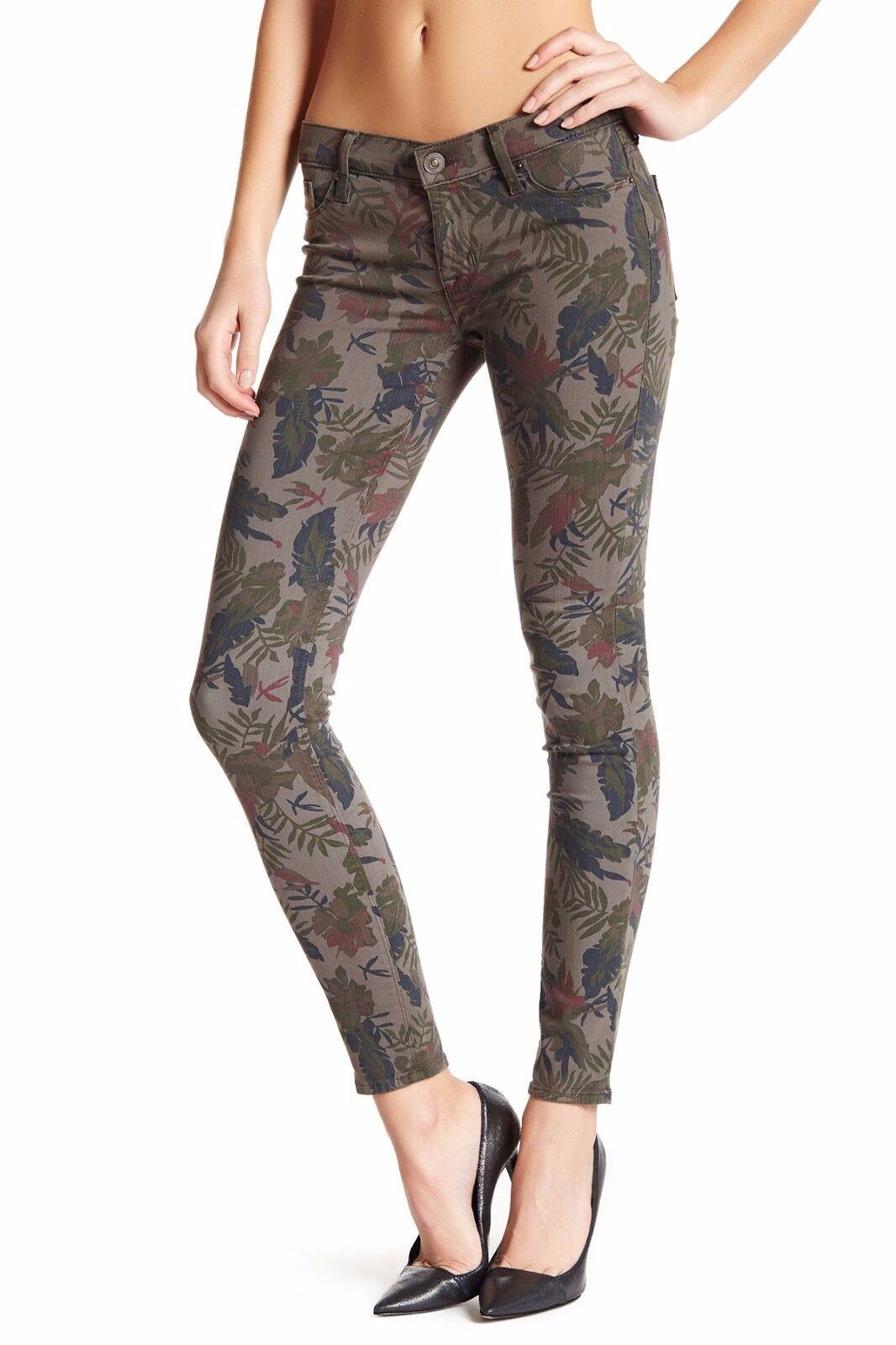 NWT HUDSON Krista Super Skinny in Bramble Leaf Floral Print Stretch Jeans 26