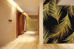 Parete Doro : 3d foglie doro ·parete murale foto carta da parati immagine sfondo