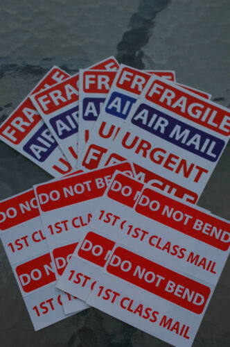 40 Assorted 90 x 30mm  Labels Parcel Stickers Self Adhesive