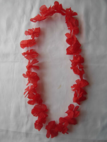 12  Garlands Hawaiian Flower Lei tropical Party Fancy Dress  11 Colour