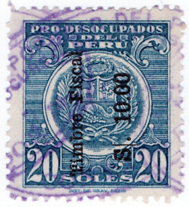 I-B-Peru-Revenue-Duty-Stamp-10s-on-20s-OP