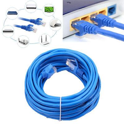 4x 100FT CAT5 CAT5E BLUE ETHERNET LAN NETWORK CABLE RJ45 Patch Network Blue US