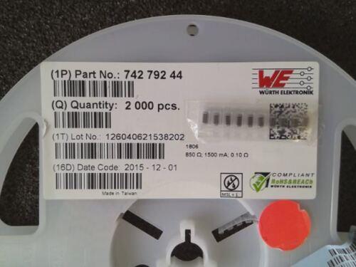 10 x ferritperlen 850ohm 100mhz 1806-7427924 4-NEW 1500ma