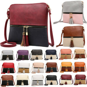 Women-Handbag-Leather-Satchel-Shoulder-Bag-Tote-Ladies-Messenger-Crossbody-Purse