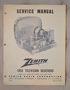 zenith service manual tv 20 1958 television receivers 15a26 15a26q rh ebay com Clip Art User Guide Example User Guide