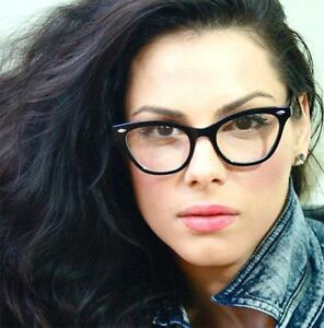 c0fd268a147b1 50 s Retro Vintage Cat Eye Black Clear Lens Sexy Women Eyeglasses ...