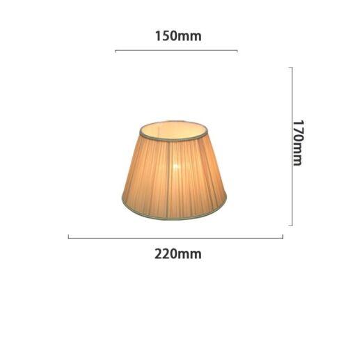 Fabric Box Pleat Drum Lampshade Table Light Pendant Ceiling Floor Lamp Shade New