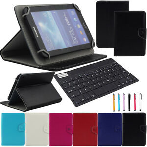 US-For-8-034-8-4-034-Inch-Tablet-Bluetooth-Keyboard-Universal-Leather-Folio-Case-Cover