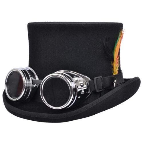 Steampunk Cappello A Cilindro Con Da Saldatore Occhiali Cibernetici Gotico