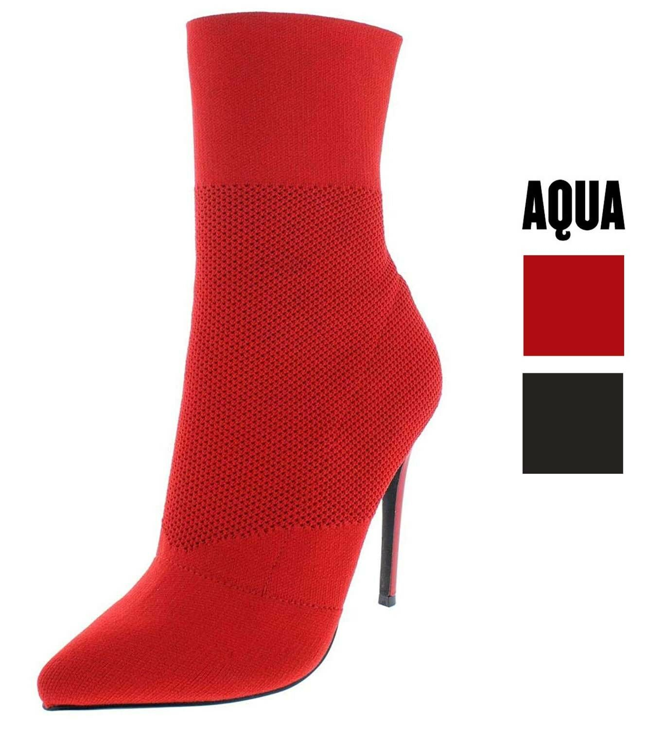 Aqua Damenschuhe Booties Cento Stretch High-Heel Sock Booties Damenschuhe 75ae00
