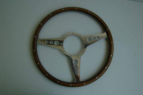 """New Moto-Lita 13/"""" Wood Steering Wheel Made in the UK Top Quality"""