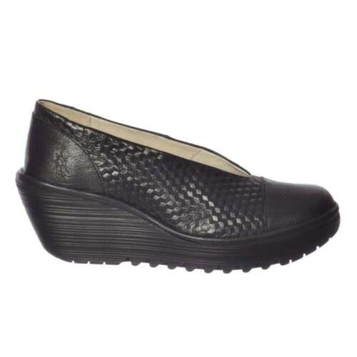 Cour Chaussures Fly Travail Yena 685 London Femmes Bout Rond Compensé De 107C0