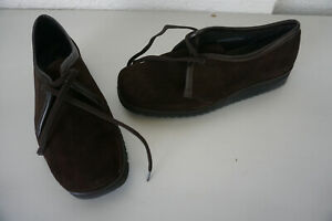 Sioux-Ladies-Comfort-Shoes-Lace-Up-Comfortable-Gr-6-39-Suede-Braun-Like-New