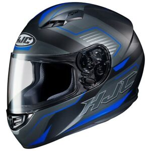 NEW-HJC-Helm-CS-15-Trion-schwarz-blau-matt-Gr-M-57-58-Motorradhelm