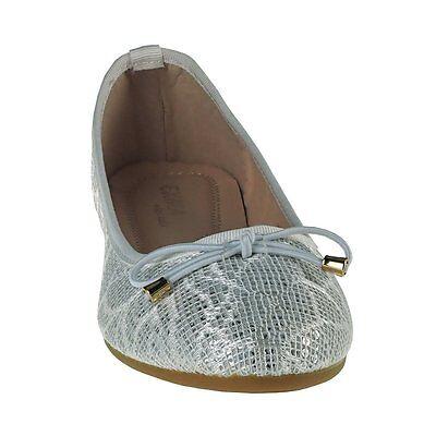 20017 Klassische Damen Ballerinas Damenschuhe Textil Pailletten m. Schleife