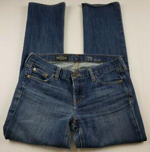 J-Crew-Womens-Jeans-Sz-28-Matchstick-Boot-Cut-Mid-Rise-Medium-Wash-Denim