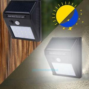 20-LED-Solarleuchte-Wandleuchte-PIR-Bewegungsmelder-Lichtsensor-Wege-Gartenlampe