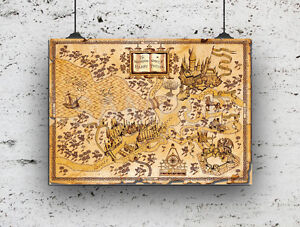 HARRY POTTER WORLD OF HARRY POTTER MAP, HIGH QUALITY PRINT A4 | eBay