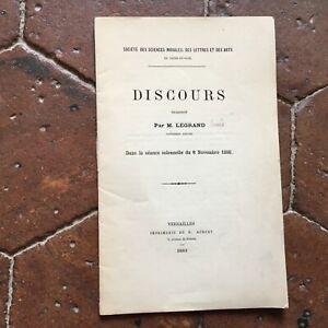 Louis Legrand Lingua L Tema Della Impiegati 8 Novembre 1888