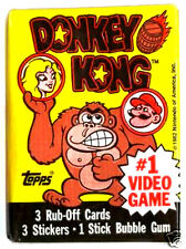 Topps Nintendo DONKEY KONG Rub-Off Cards Sealed/Unopened Wax Pack (1982)