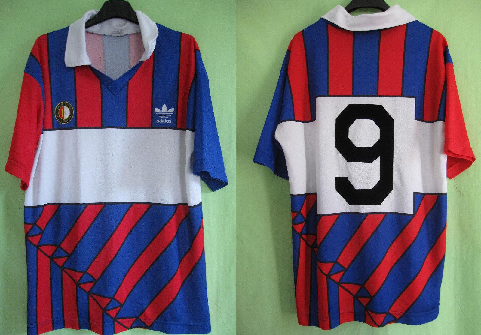 Maillot Adidas Feyenoord 1990 rossoterdam  9 Vintage Football Jersey  L