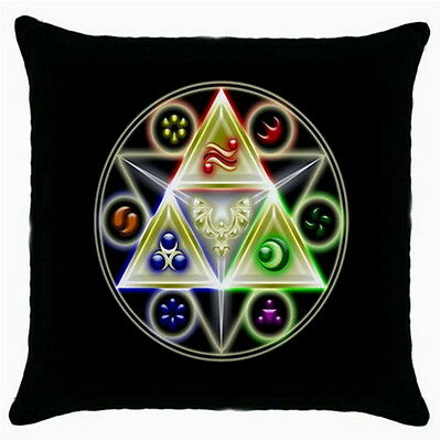 The Legend of Zelda Throw Pillow Case Black for Living Bed Room Fashion Gifts