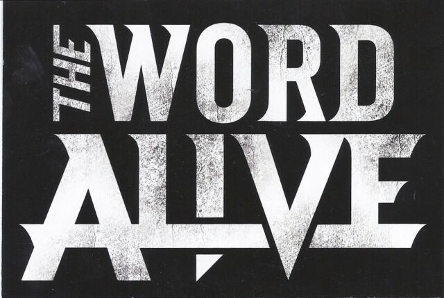 The Word Alive - Life Cycles  * PROMO STICKER rare