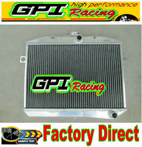 50 mm aluminum radiator /& fan for Volvo Amazon P1800 GT B18 B20 engine MT