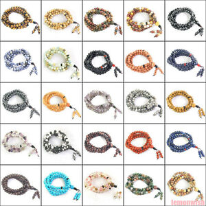 108 Prière Perles Extensible Multifonctions Bracelet Collier Pierre Naturelle 6 Mm-l Bracelet Necklace Natural Stone 6mm Fr-fr Afficher Le Titre D'origine