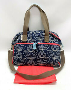 ORLA-KIELY-for-TARGET-BLUE-SPIRAL-DIAPER-BAG-W-CHANGING-PAD-EUC
