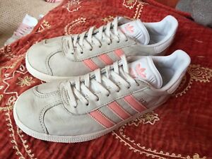 ADIDAS LADIES PEACH PINK SUEDE GAZELLE TRAINERS VARIOUS SIZES T